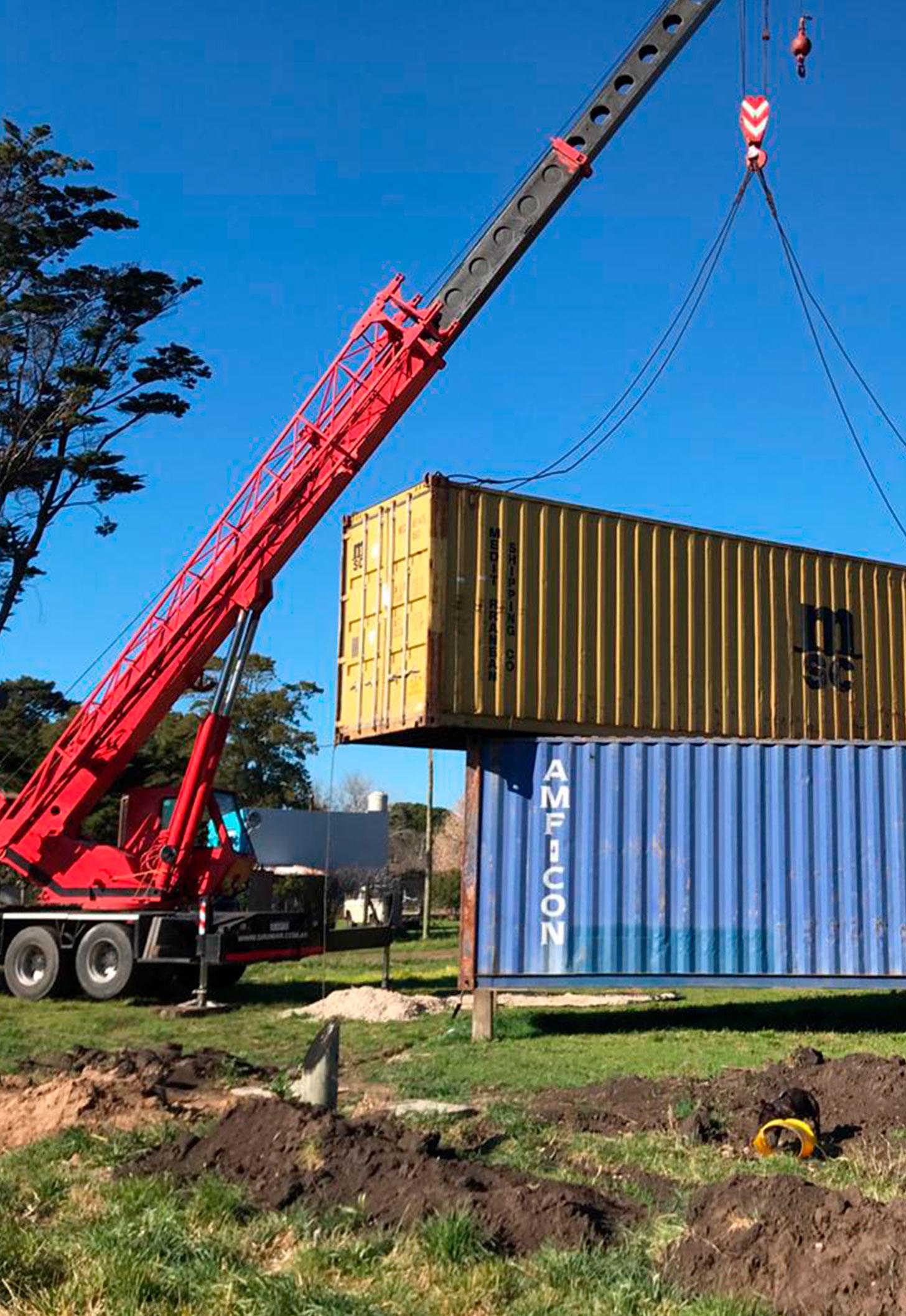 Movimiento contenedores para vivienda