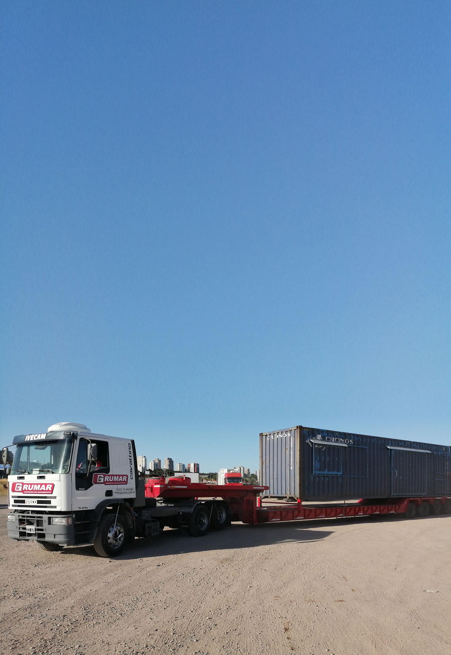 Transporte de contenedor