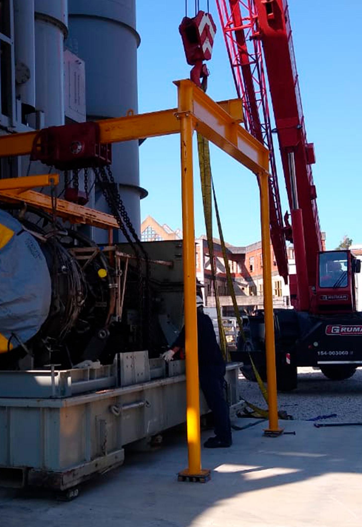 Colocación de turbina